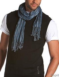 foulard froissé en viscose