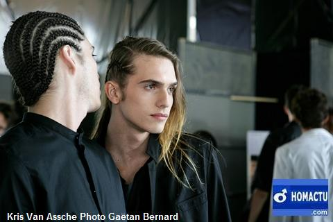 Kris Van Assche, backstage défilé collection été 2010