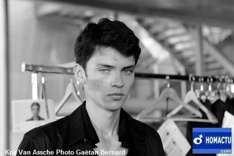 Kris Van Assche, backstage défilé collection mode masculine été 2010