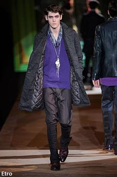 Etro, fashion week Milan, mode homme automne hiver 2010-2011