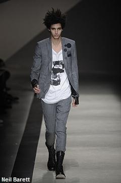 Neil Barett, fashion week Milan, mode homme, hiver 2010-2011