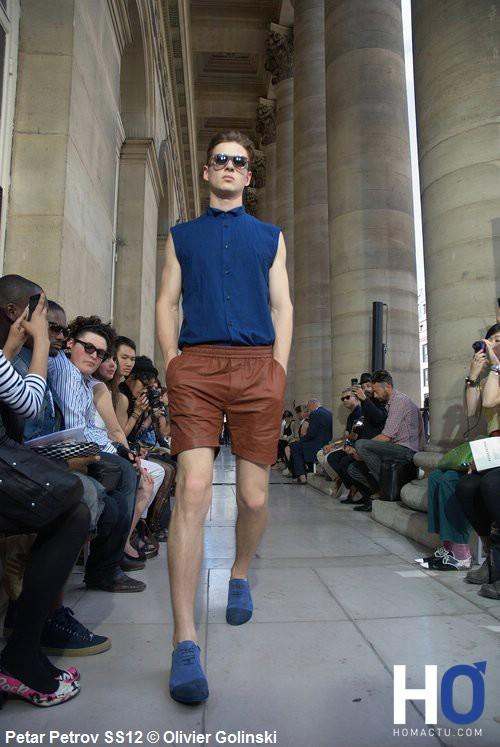 PETAR PETROV, Fashion week Paris, mode homme, printemps été 2012