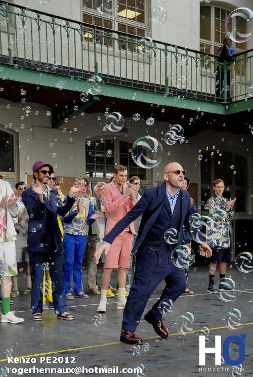 Kenzo, Fashion week Paris, mode homme, printemps été 2012