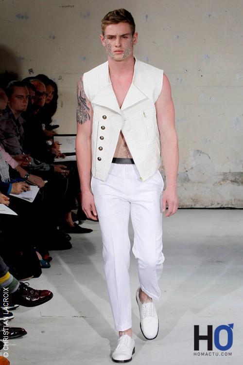 CHRISTIAN LACROIX, Fashion week Paris, mode homme printemps été 2012