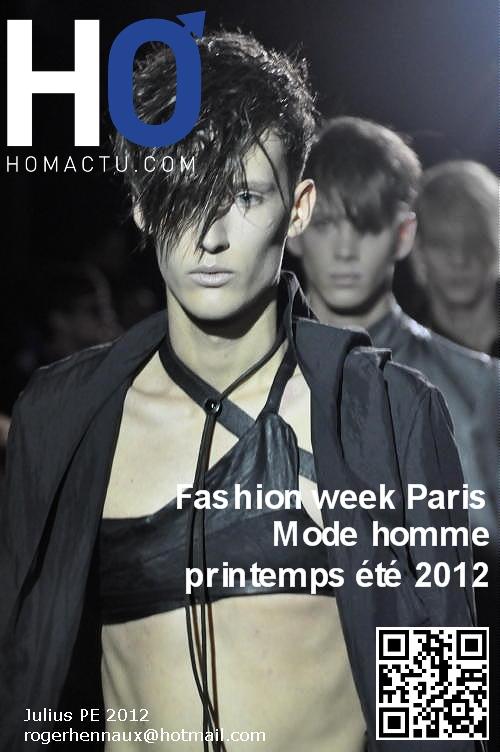 Les chroniques Fashion week Paris, mode homme, printemps été 2012