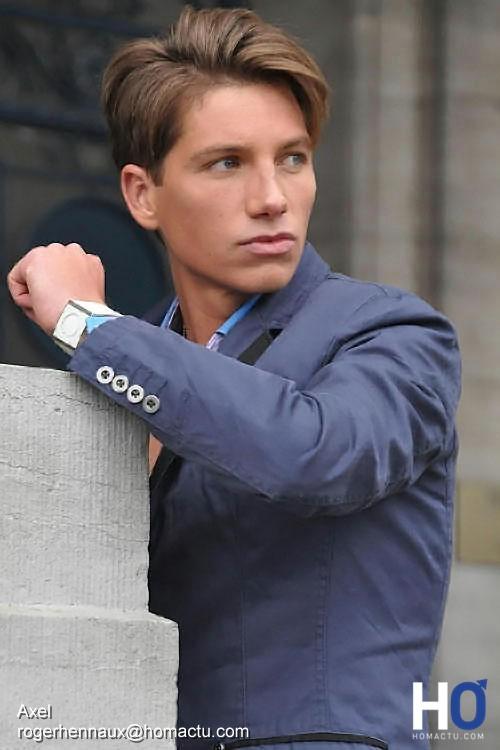 Axel st-Lukas, mannequin mode masculine