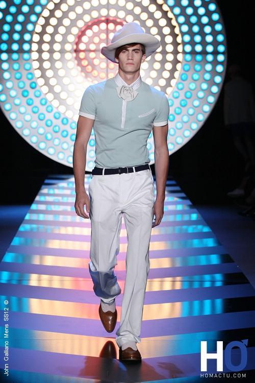 Que nous propose pour le printemps et l'été 2012 le créateur John Galliano ?