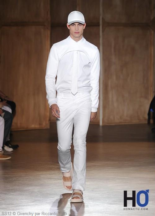 Givenchy, mode homme, été 2012