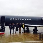 Un Jet noir so VIP pour nos 4 gagnants !