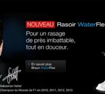 BRAUN:  Waterflex, le nouveau rasoir électrique!