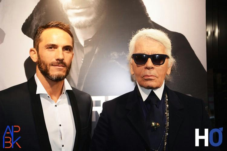 Sébastien Jondeau et Karl Lagerfeld