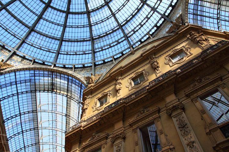 Glass gallery - Galleria Vittorio Emanuele - Milan - Italy