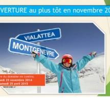 Montgenèvre, la plus italienne des stations de ski françaises.