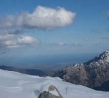 Ghisoni, le ski face à la mer