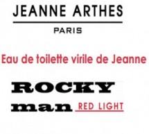 Jeanne Arthes présente sa Nouvelle Eau de toilette virile: Rocky Man Red Light