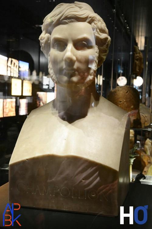 Buste de Champollion