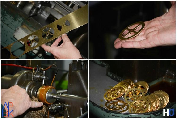 Fabrication des roues et taillage des dents