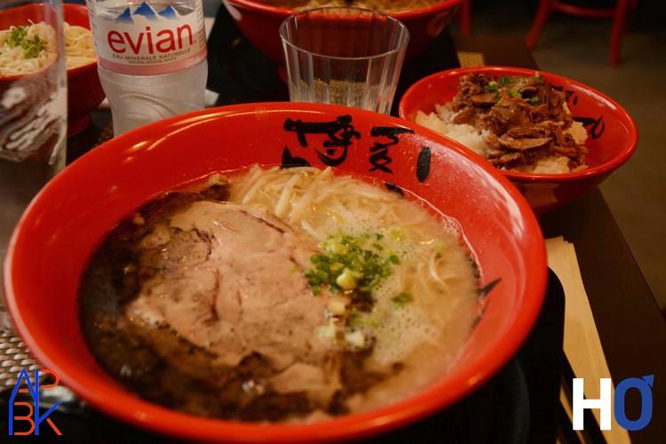 Tonkotsu ramen avec châsû (porc roti)