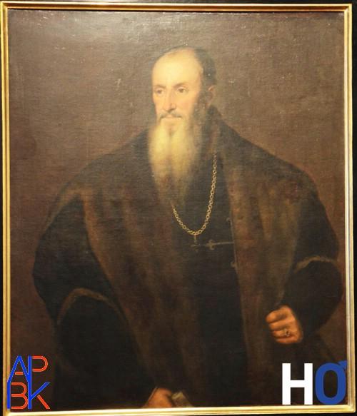 Nicolas Perrenot de Granvelle - Huile sur toile attribuée au Titien