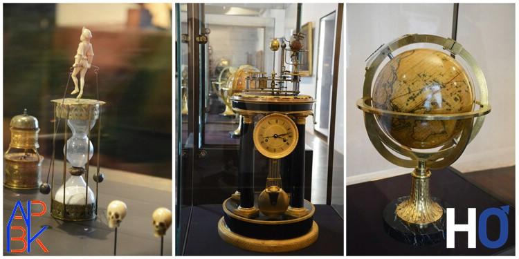 Au centre: Pendule à planétaire, Antide Janvier, début du XIX siècle.