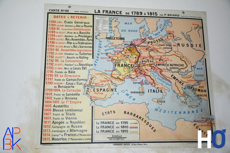 La carte d' l'Europe