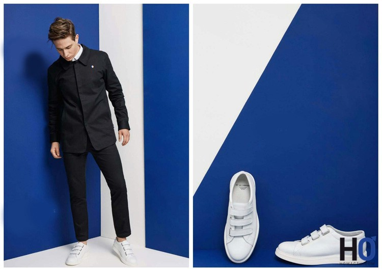 Overshirt & Sports Pants : Black Twill - Chaussures : Raymond Black Aniline