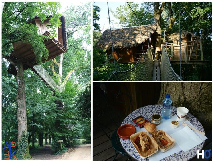 La cabane où j'ai passé la nuit. Le dîner.