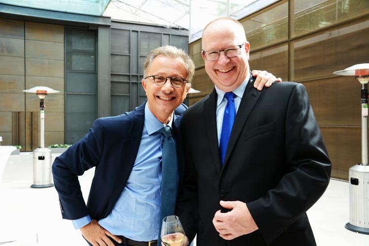 Bertrand Léonard et Peter Tod
