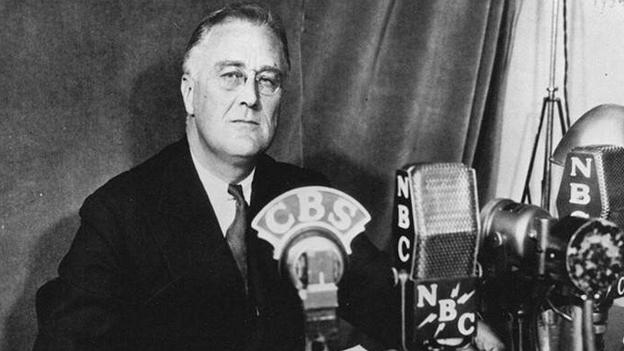 Franklin Delano Roosevelt, président de Etats Unis