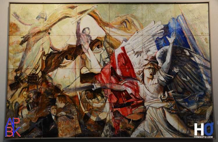 """Peinture de Pascal Niau - """"Valeurs républicaines"""""""
