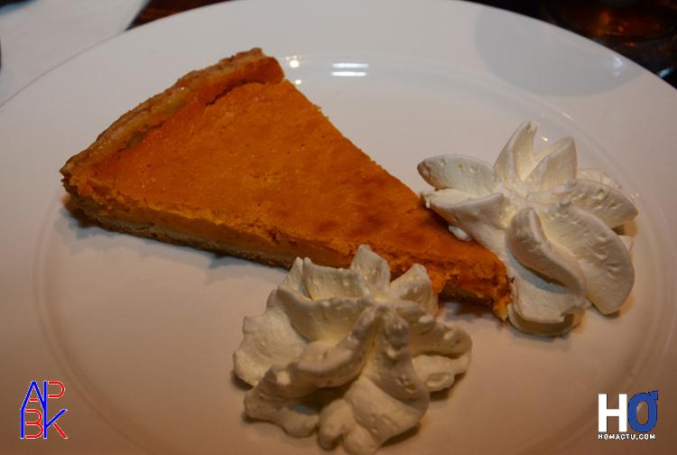 La tarte à la citrouille et sa crème chantilly