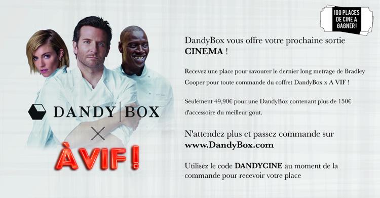 En commandant votre Box avec la code : DANDYCINE, une place vous seras offerte.