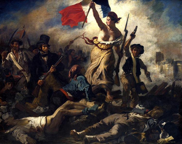 La Liberté guidant le peuple (1830) Eugène Delacroix.