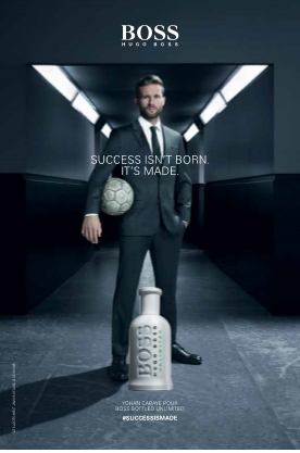 Yohan Cabaye, ambassadeur BOSS BOTTLED UNLIMITED