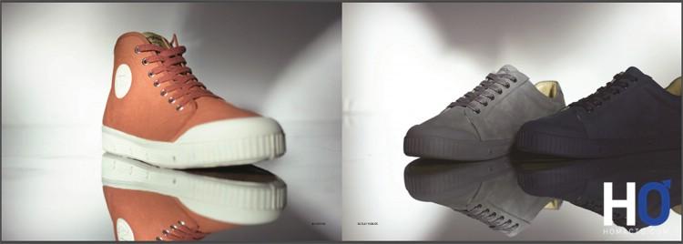 A gauche, modèle : B2 Canvas - à droite : G Clay Nubuk