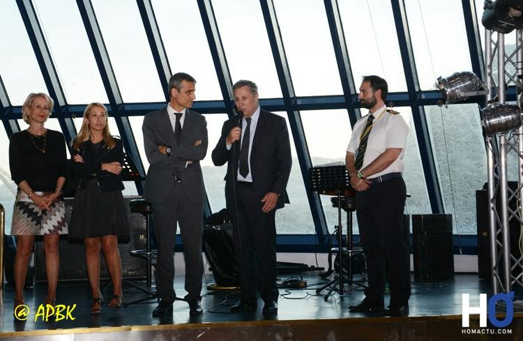 Pierre Mattei, Président du Directoire de Lota Maritime - Corsica Ferries et un adjoint du maire de Nice