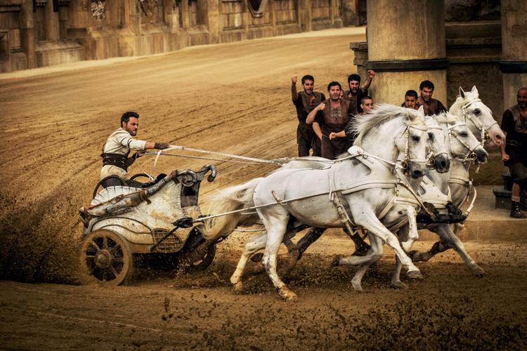 Le duel entre Ben Hur et Messala