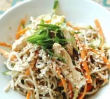 Salade de poulet et nouilles soba!