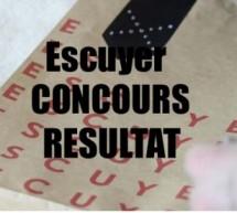 ESCUYER – Résultat du concours!