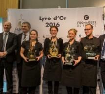 La lyre d'or 2016 : concours du meilleur plateau de fromages.