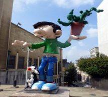 Bruxelles fête la BD et les 60 ans de Gaston la Gaffe.