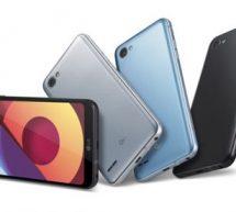 LG équipe sa nouvelle gamme de smartphones Q6 de l'écran Fullvision.