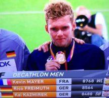 Kevin Mayer, au décathlon, Médaille d'Or de l'une des épreuves les plus difficiles.