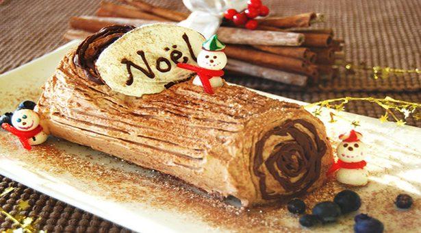 La bûche, le dessert fétiche du repas de Noël.