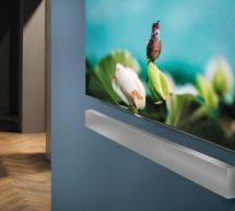 Samsung dévoile une barre de son ultra fine .