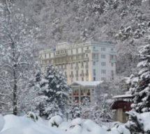 Le grand spa thermal à La Léchère-les-Bains (74).