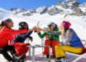 Le ski de printemps à Courchevel.