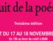 Nuit de la poésie : Samedi 17 novembre 2018 de 19h au lever du soleil à l'Institut du monde arabe.