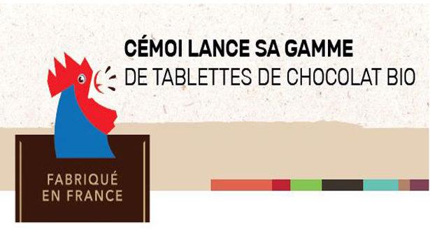 CÉMOI LANCE SA GAMME DE TABLETTES DE CHOCOLAT BIO.