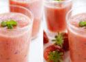 Smoothie fraise et pastèque, une recette 100 % fraîcheur.